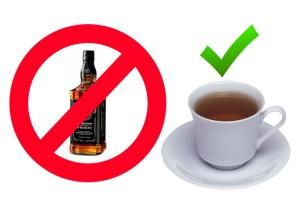 Чай против алкоголя