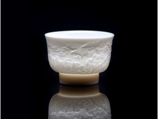 """Bowl Porcelain Carved """"Wings"""" 120 ml"""