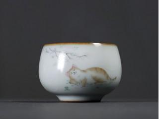 Пиала Жу Яо Отдыхающий котик 100 мл