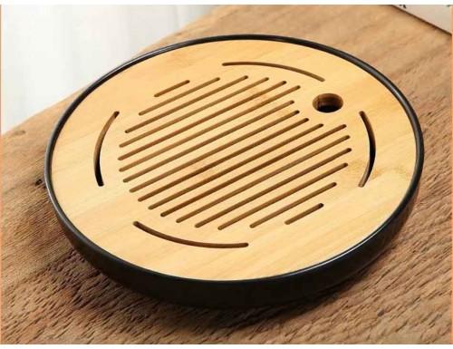 Чабань Бамбуковая Круглая 26 см Черная