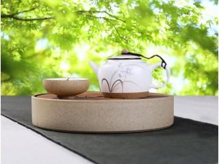 Чабань круглая с керамическим поддоном