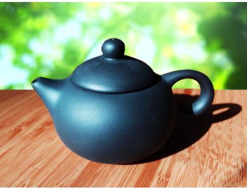 Чайник из красной глины, черный, 130 мл