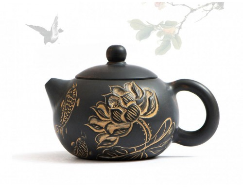 Исинский чайник Гуанси Си Ши Лотос и Карпы 200 мл