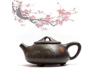 Исинский чайник Ши Пяо Черное Золото Лотос 200 мл