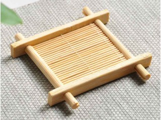 Подставка под пиалу бамбуковая 9х9 см