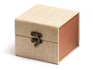 Подарочная коробка для пиал бежевая 10,5х10,5х8,5см
