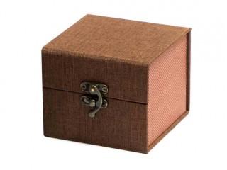 Подарочная коробка для пиал коричневая 10,5х10,5х8,5см
