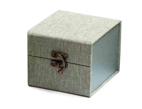 Подарочная коробка для пиал зеленая 10,5х10,5х8,5см