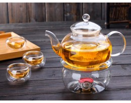 Glass stand for glass teapot Stove
