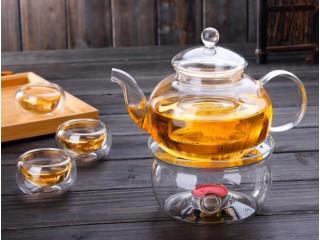 """Подставка из стекла  """"Печка"""" под стеклянный чайник, 13 см"""