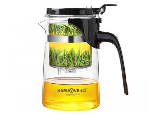 Чайник заварочный с кнопкой Kamjove K-201 500 мл