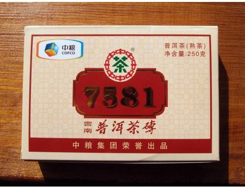 "Шу Пуэр Рецепт 7581 ""China Tea"", 250 г, 2012 г."