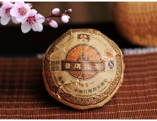 Шу Пуэр V93 Мэнхай Да И 2009 года 100 г